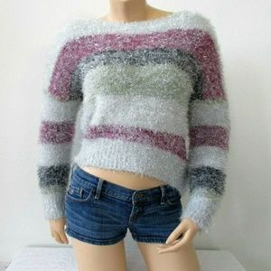 Trendy Chic Scoop Neck Pullover Sweater NWT